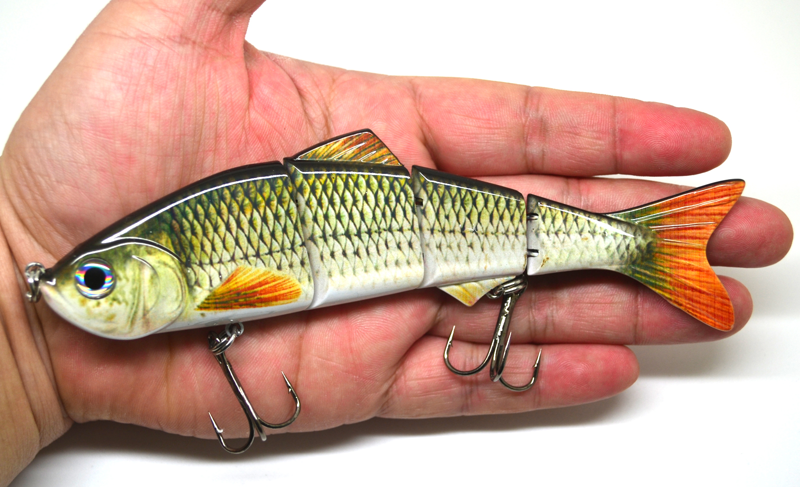 6 multi jointed fishing lure bait swimbait life like shad for Striper fish bait