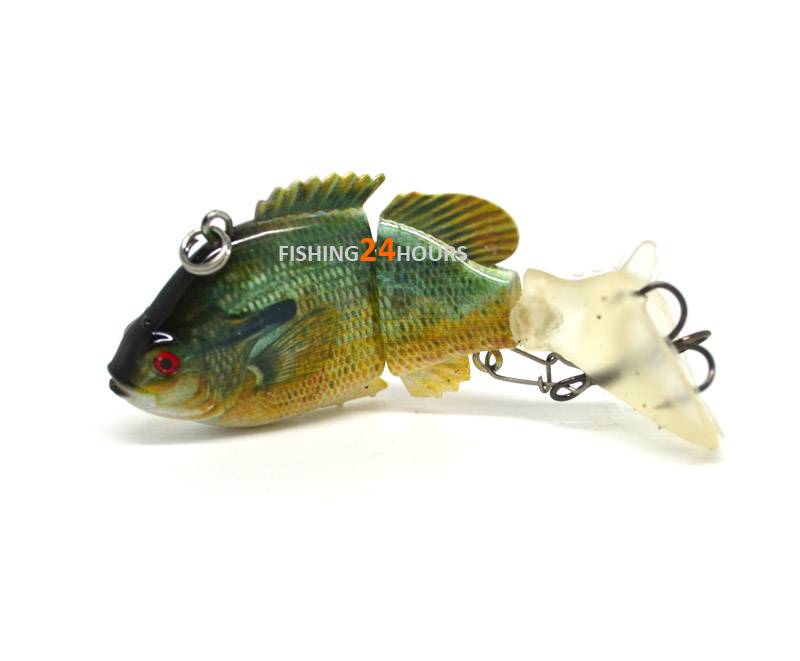 Jointed bass fishing lure swimbait life like redbreast for Bluegill fishing bait