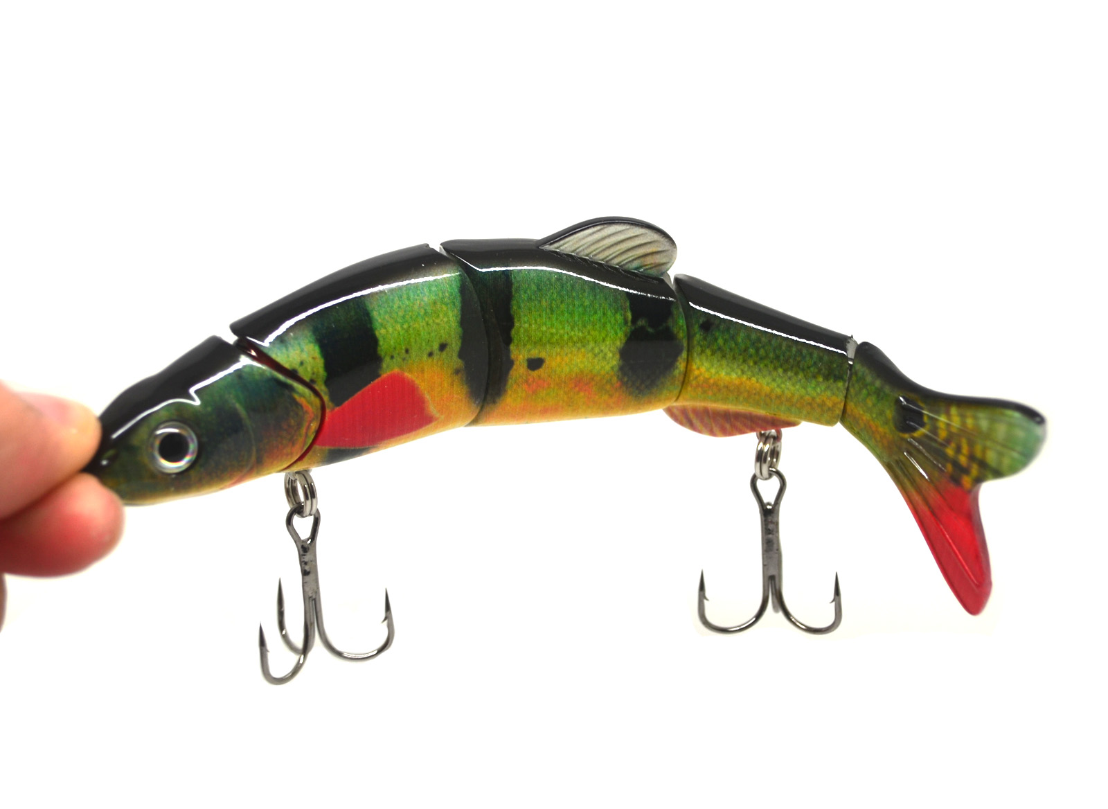 6 5 multi jointed bass pike muskie fishing lure bait for Pike fishing lures