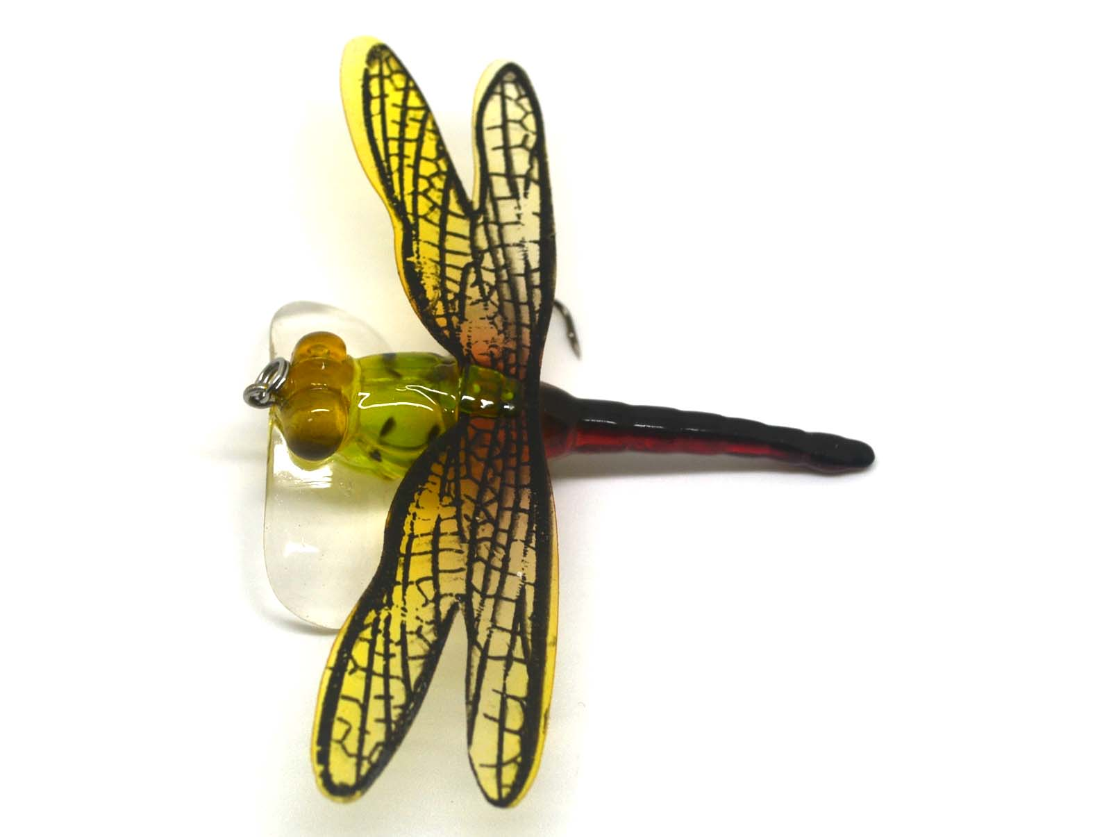 Popper Fishing Bait Lure Life Like Dragonfly Floating Fly