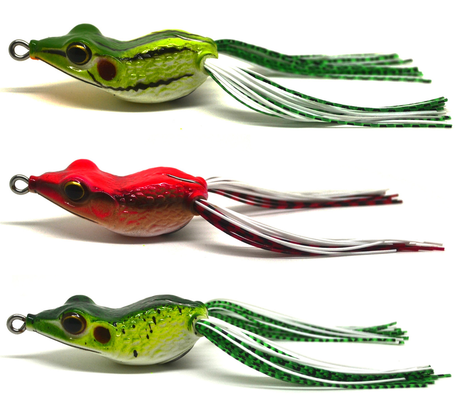 3pcs bass snakehead fishing soft bait lure frog floating for Frog lures for bass fishing