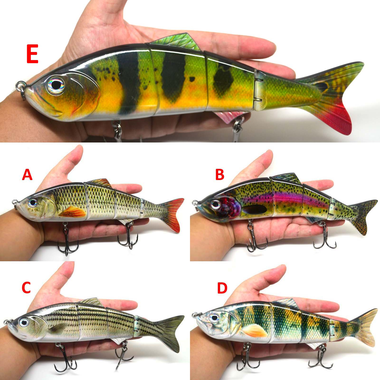 10 multi jointed fishing lure big bait swimbait bass life