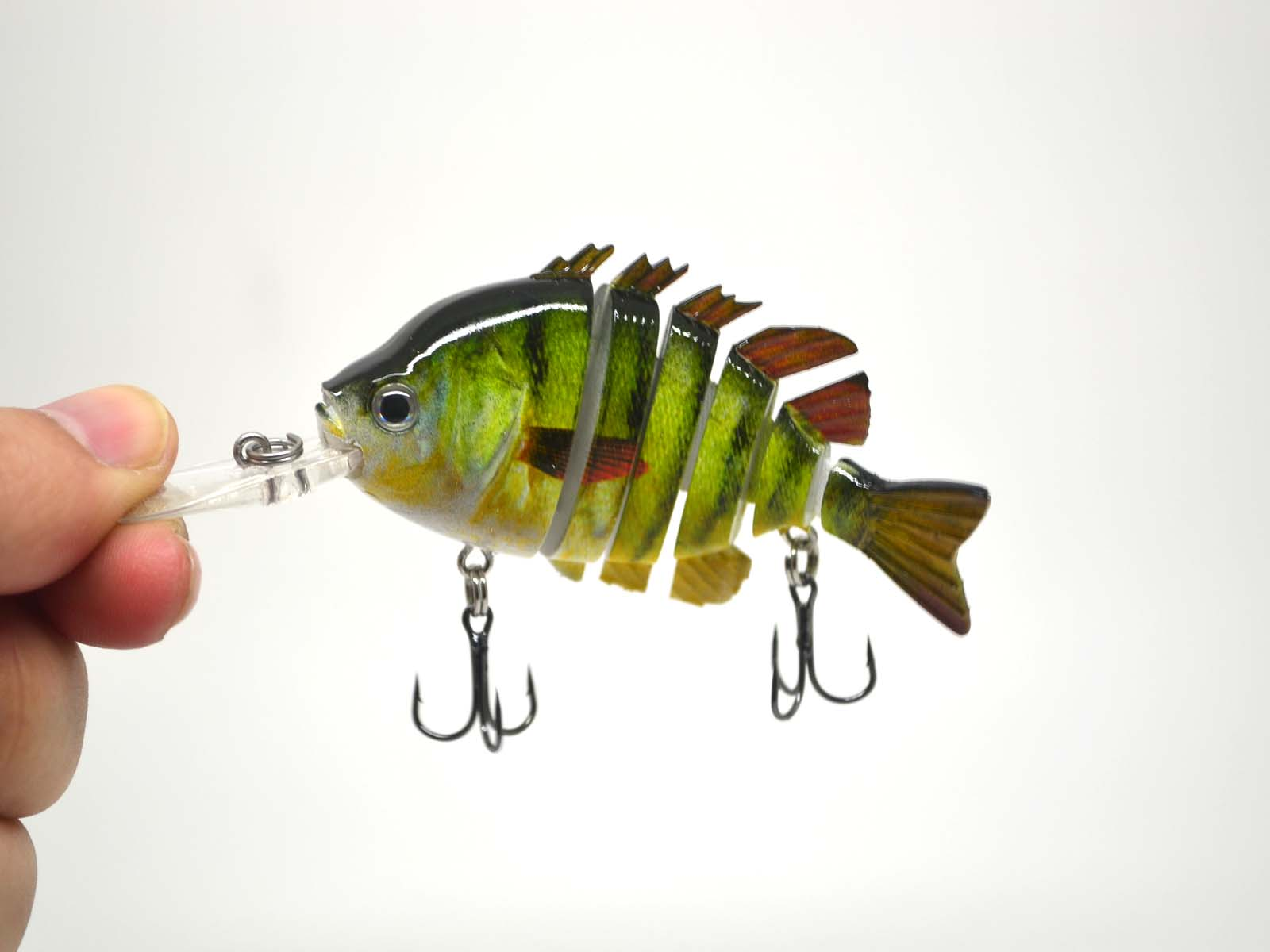 Largemouth bass pike perch fishing bait swimbait lure life for Perch fishing lures