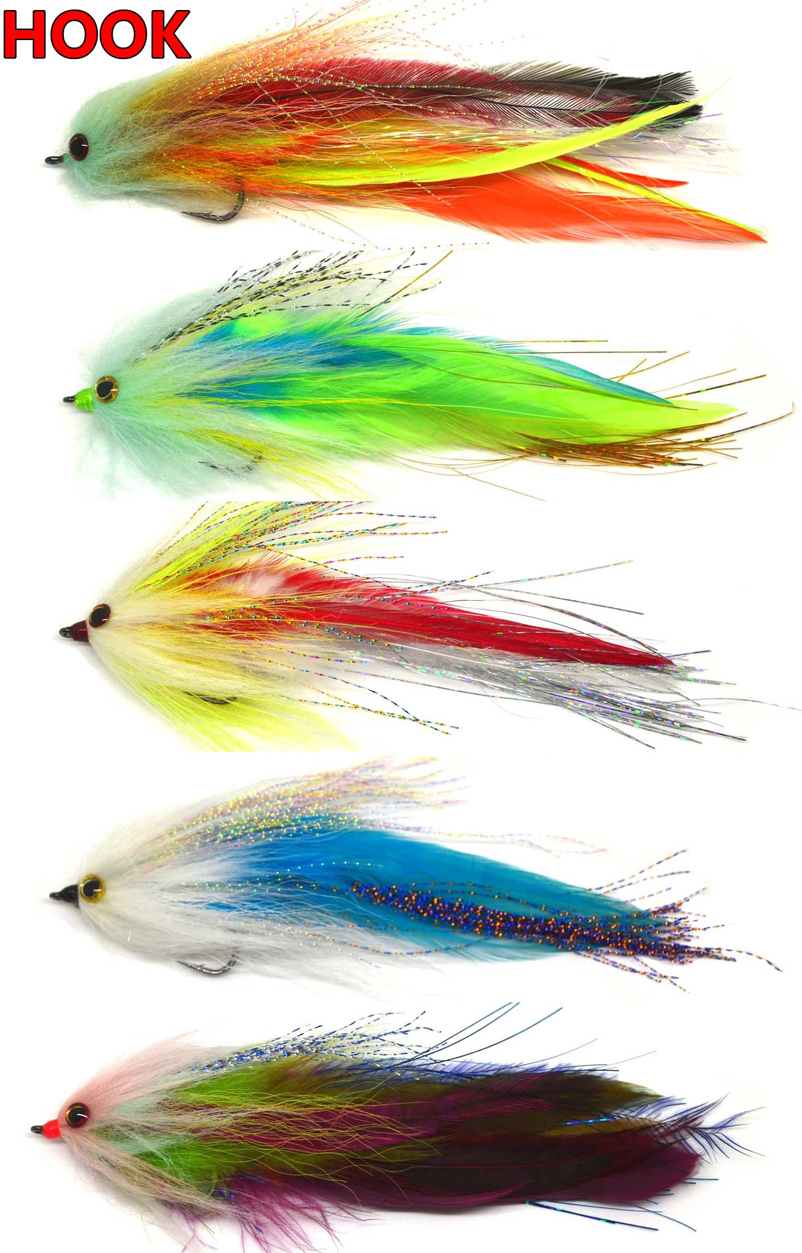 6 Quot Hook Tube Trout Salmon Steelhead Pike Fly Fishing Streamer Flies Saltwater Ebay